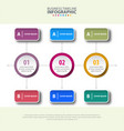 business infographics strategy with option design vector image