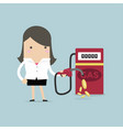 businesswoman and gas station vector image
