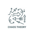 chaos theory line icon chaos theory vector image vector image
