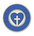 christian cross symbol vector image vector image