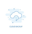 cloud backup line concept simple line icon vector image vector image