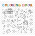 coloring bookSummer set vector image vector image