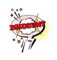 comic speech chat bubble pop art style discount vector image vector image