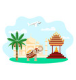 concept travel around world for advertising vector image