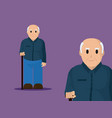 cute grandfather cartoon vector image