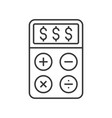 dollar sign on calculator accounting concept icon vector image