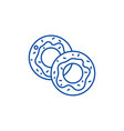 donuts line icon concept donuts flat vector image
