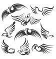 eagle icon set vector image vector image