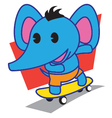 Elephant Skateboard vector image