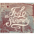 feel summer calligraphic retro grunge poster vector image vector image