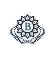 flower elegance initial b vector image