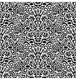Funny Black and White Seamless Pattern Background vector image