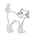 funny cute cat icon vector image vector image