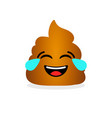 funny laughing poop emotional shit icon vector image