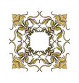 golden ornate decor heraldry floral image vector image vector image