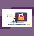 hacker attack cyber crime password phishing vector image
