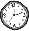 Hand drawing clock vector image vector image
