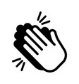 hands clapping icon applause vector image vector image
