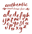 handwritten brush script with shabby texture vector image vector image