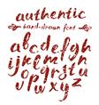 handwritten brush script with shabtexture vector image