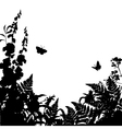 Herbs Flowers Silhouette Background vector image vector image