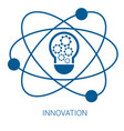 innovation blue flat icon vector image
