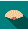 Japanese folding fan icon flat style vector image vector image