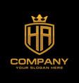letter ha luxury logo design vector image vector image