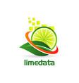 lime swoosh logo design vector image
