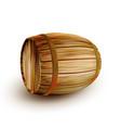 lying vintage brown cask barrel for liquid vector image vector image