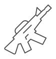 m16 machine gun thin line icon automatic gun