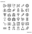 medical and healthcare outline icons perfect pixel vector image vector image