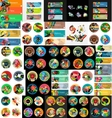 Mega collection of flat web infographics vector image