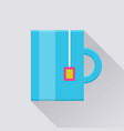 mug with tea bag pocket icon vector image vector image