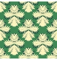 Pattern with damask motifs vector image vector image