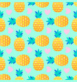 pattern with pineapples and hearts vector image vector image