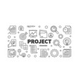 project concept or banner in vector image vector image