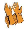 rancher gloves icon icon cartoon vector image vector image