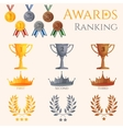 Ranking icons set vector image vector image