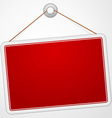 Red Sign Board vector image