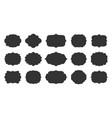 retro label border frame shape tag sticker set vector image vector image