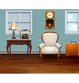 room full vintage furniture vector image
