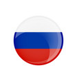 russia flag in circle shape transparent glossy vector image vector image