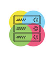 server data racks - computer storage vector image