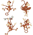 set cheerful monkeys Cartoon vector image vector image