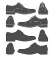 set of with classic mens shoes vector image