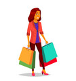 shopping woman purchasing concept store vector image