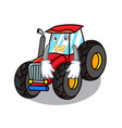 silent tractor mascot cartoon style vector image vector image