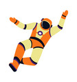 spaceman or astronaut in pressure suit isolated
