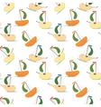 stylized fruits like ship vector image vector image